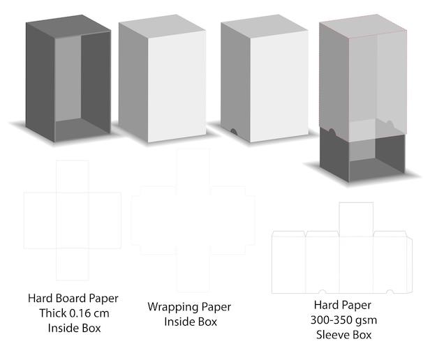 Dieline papier cartonné Vecteur Premium
