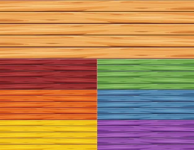 Différentes Couleurs Des Murs En Bois Vecteur Premium