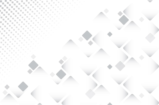Différentes Tailles De Carrés Fond Blanc Vecteur gratuit