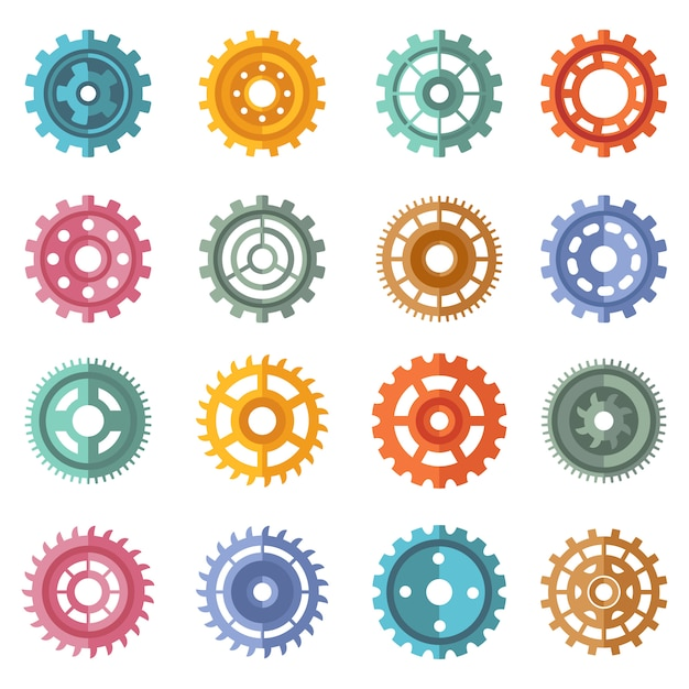 Différents styles de couleurs Vecteur Premium