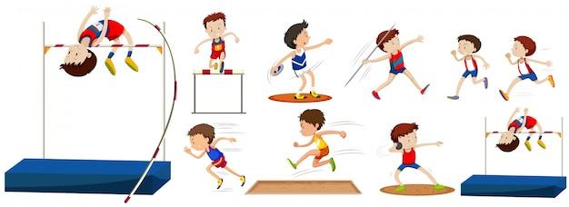 Différents Types De Sports Dans Le Domaine Vecteur Premium