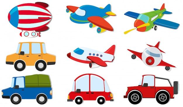Différents types de transports Vecteur gratuit