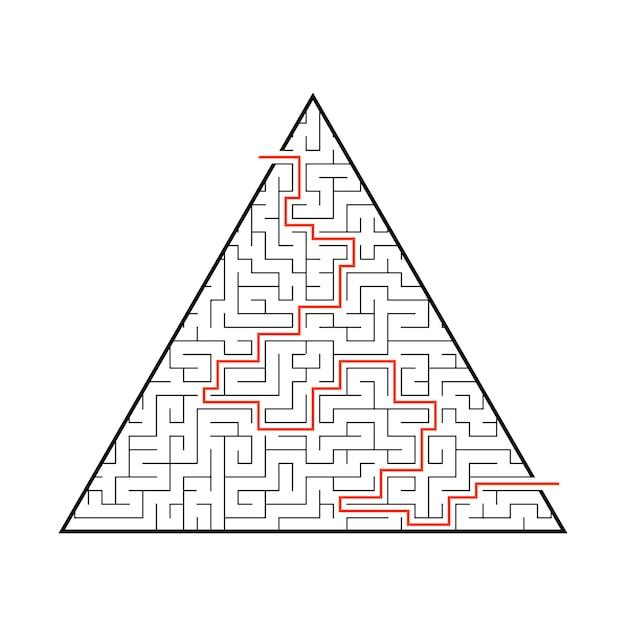 Difficile grand labyrinthe. Vecteur Premium