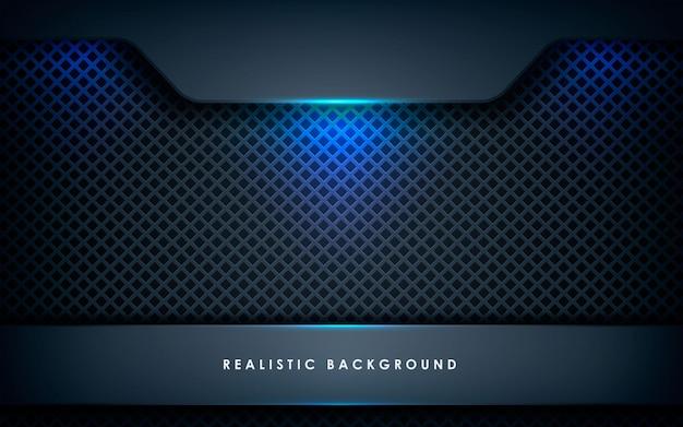Dimension abstraite bleue sur fond noir Vecteur Premium