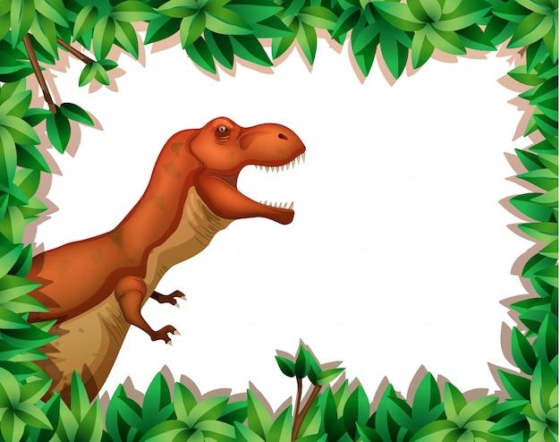 Dinosaure dans la scène de la nature Vecteur gratuit