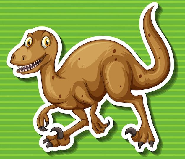 Dinosaure Marron Avec Des Griffes Acérées Vecteur gratuit
