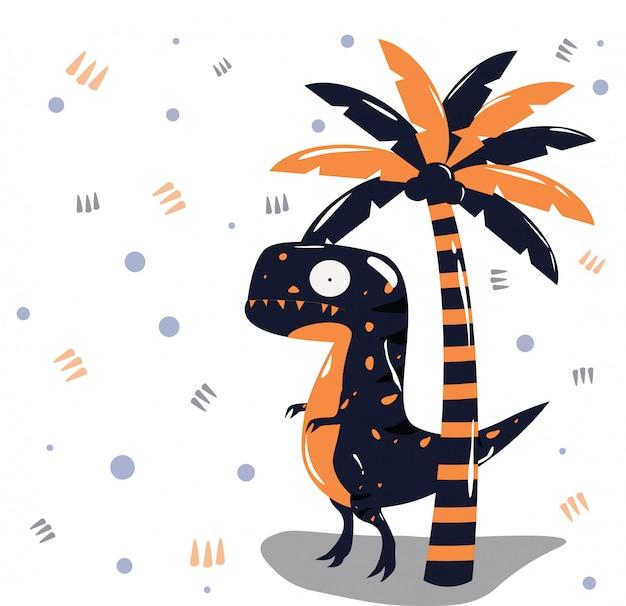 Dinosaure Vecteur Premium