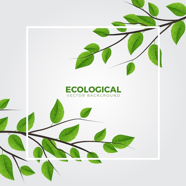 Direction générale de l'écologie verte Vecteur Premium