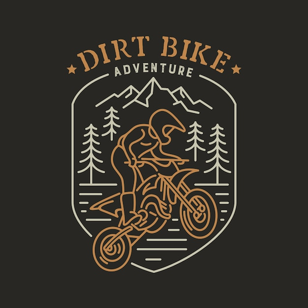 Dirt Bike 1 Vecteur Premium