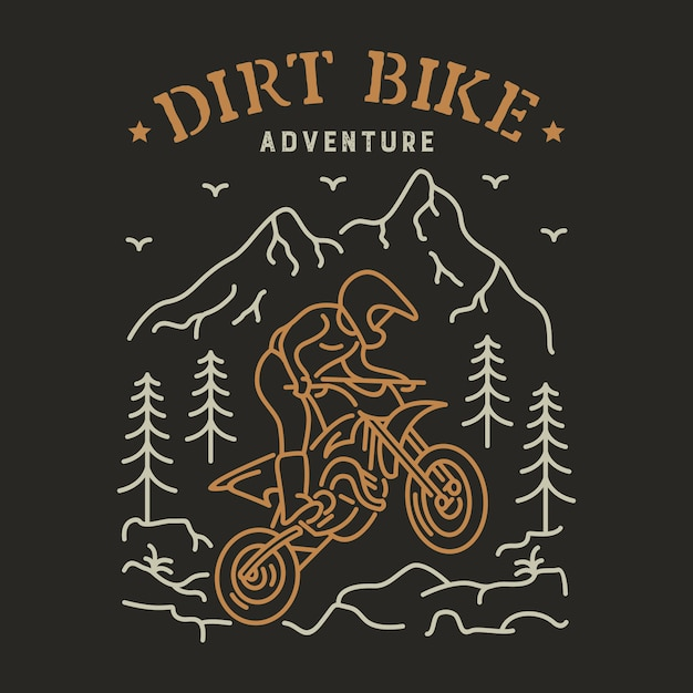 Dirt Bike 2 Vecteur Premium