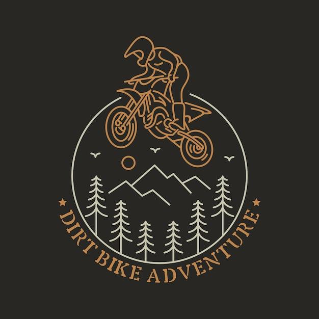 Dirt Bike 3 Vecteur Premium