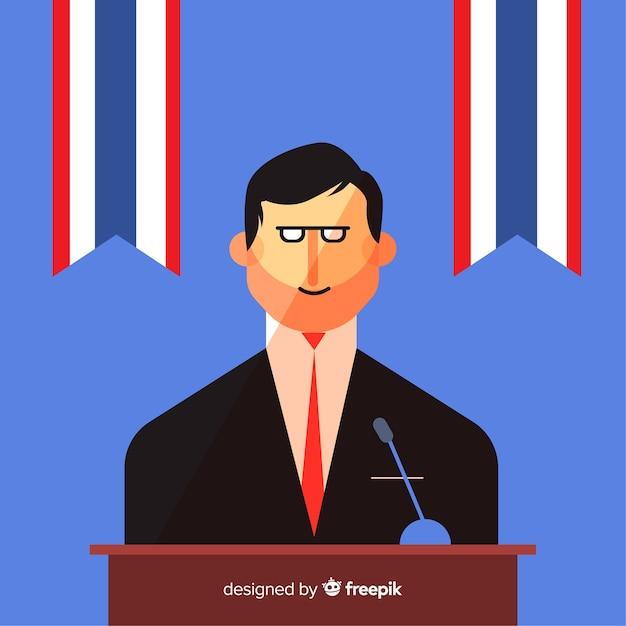 Discours électoral politique Vecteur gratuit