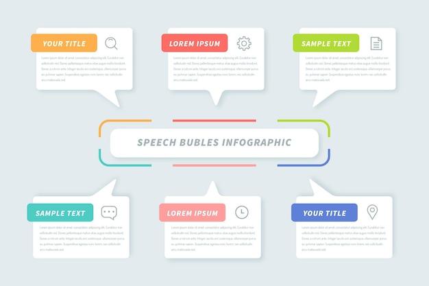 Discours Plat Bubles Infographie Vecteur gratuit