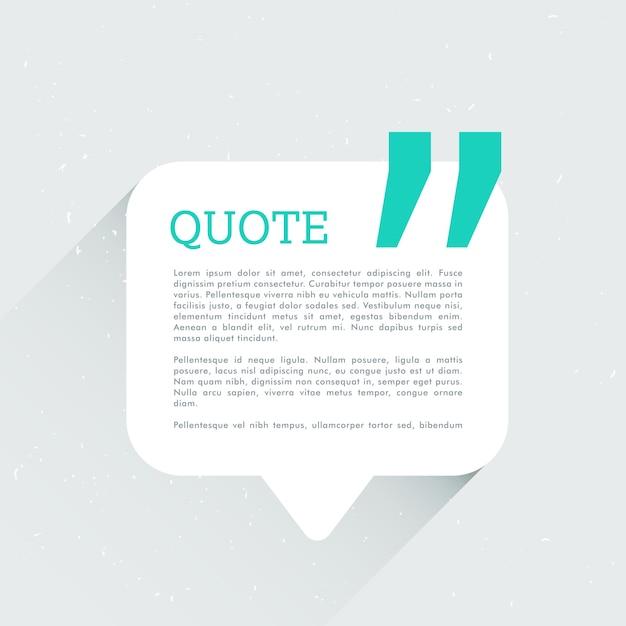 Discuter bulle avec un espace pour votre texte et devis Vecteur gratuit