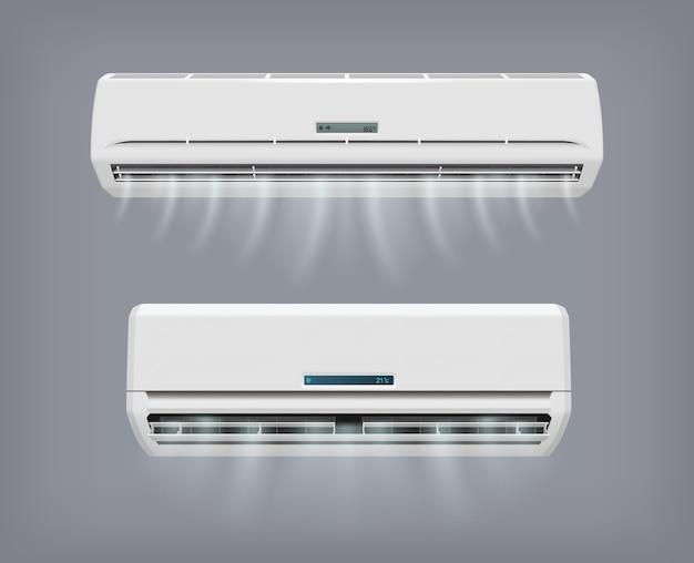 Dispositif De Vecteur De Climatiseur Pour La Climatisation à Domicile. Vecteur Premium