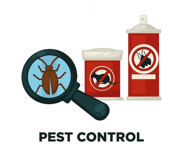 Dispositifs D'extermination D'insectes Nuisibles Vecteur Premium