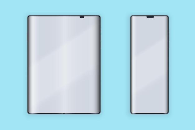 Disposition De L'interface Utilisateur Du Smartphone Pliable Vecteur Premium