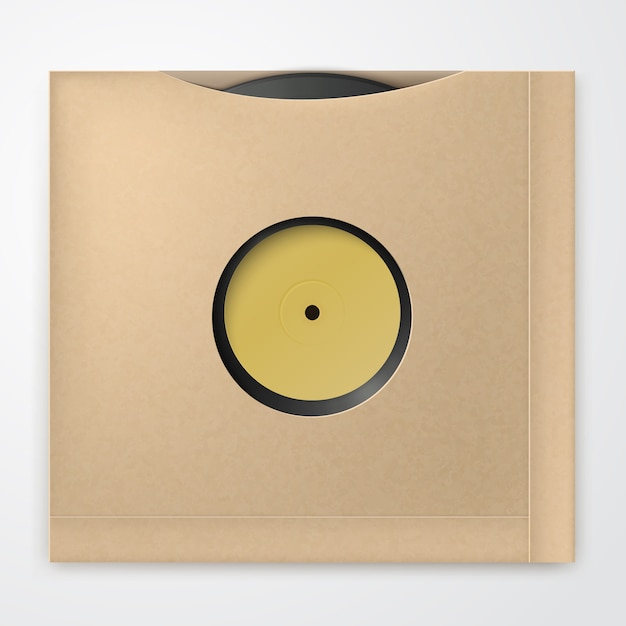 Disque vinyle réaliste Vecteur Premium