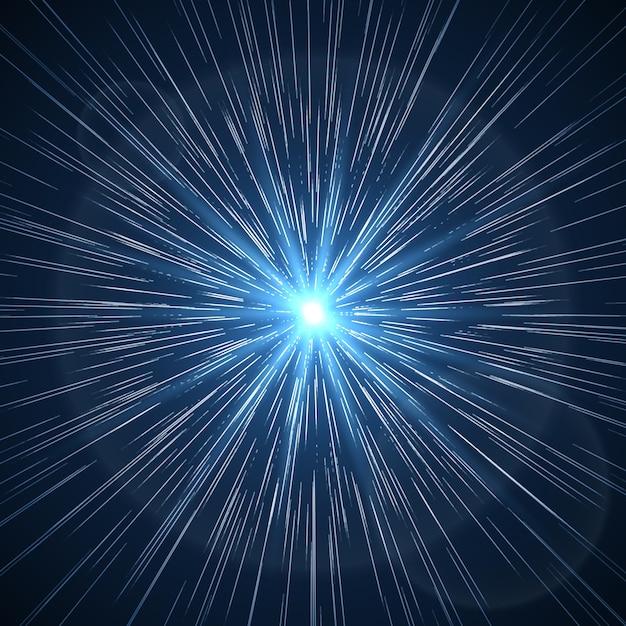Distorsion Temporelle. Rayon Starburst Supernova. éclat D'espace D'étoile De Lumière Flare Vecteur gratuit