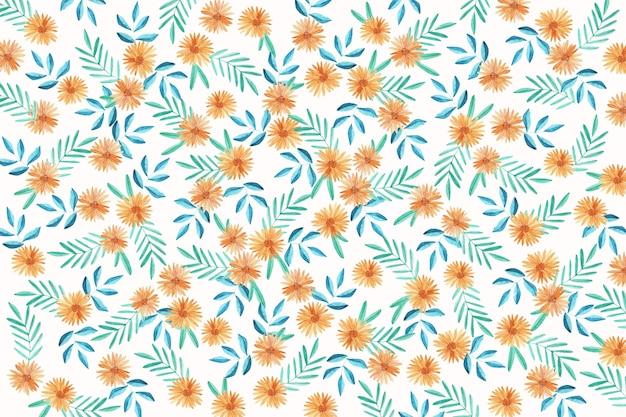Ditsy floral de fond Vecteur gratuit