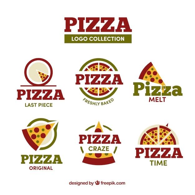 Divers Logos De Pizzeria Vecteur Premium