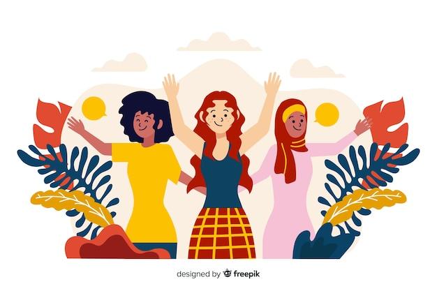 Diversité culturelle Vecteur gratuit