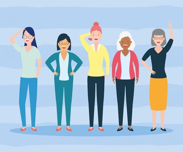 Diversité Femme Gens Vecteur gratuit