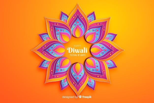 Diwali Festival Ornements Fond De Célébration Vecteur gratuit