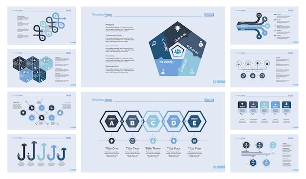 Dix modèles de diapositives en équipe Vecteur gratuit