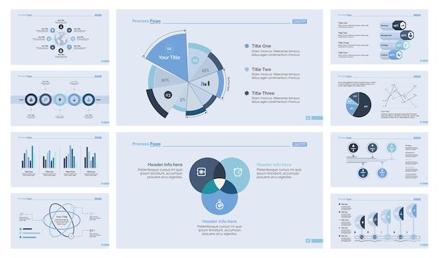 Dix modèles de diapositives de gestion Vecteur gratuit