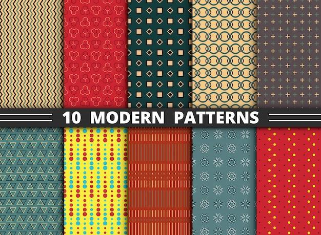 Dix modèles modernes Vecteur Premium