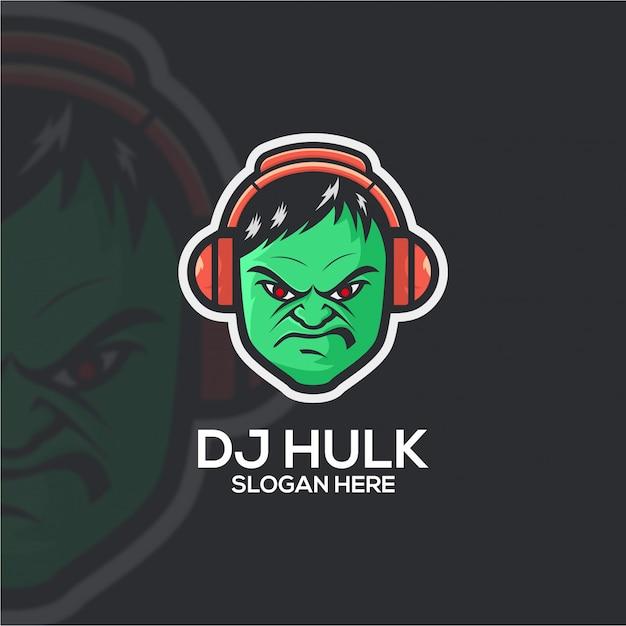 Dj hulk Vecteur Premium