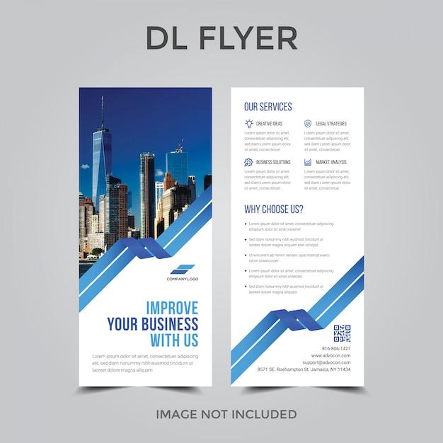 Dl Flyer Ou Modèle De Rollup Vecteur Premium