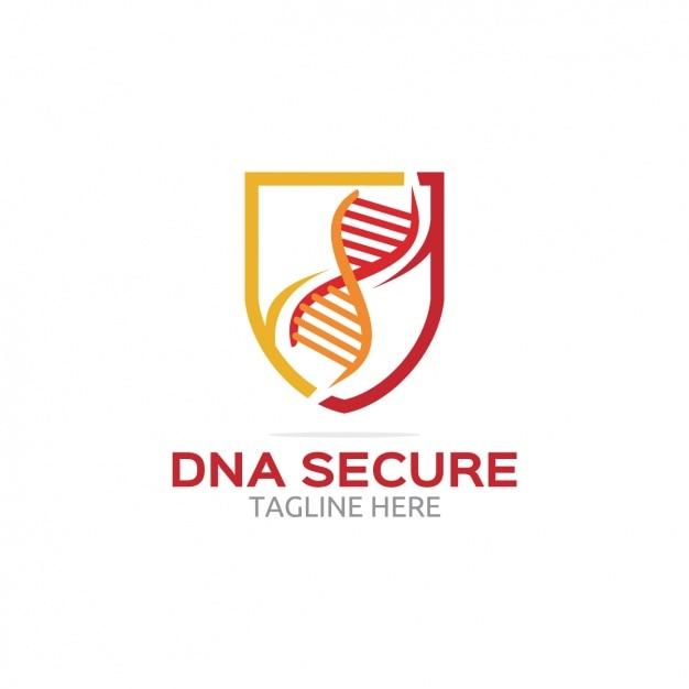 Dna Logo Sécurisé Vecteur gratuit