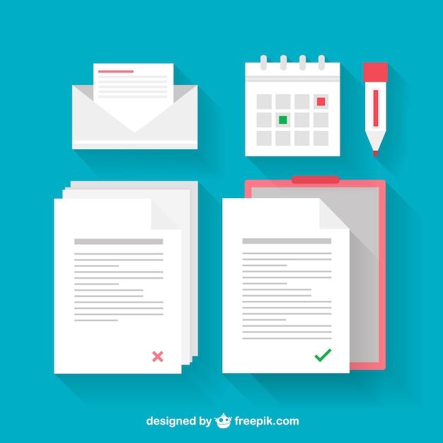 Documents illustrations Vecteur gratuit