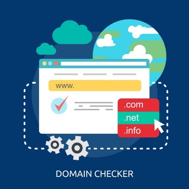 Domaine Internet Checker Fond Vecteur gratuit
