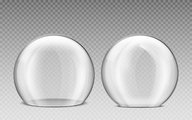Dôme En Verre, Sphère En Plastique Transparent Vecteur gratuit