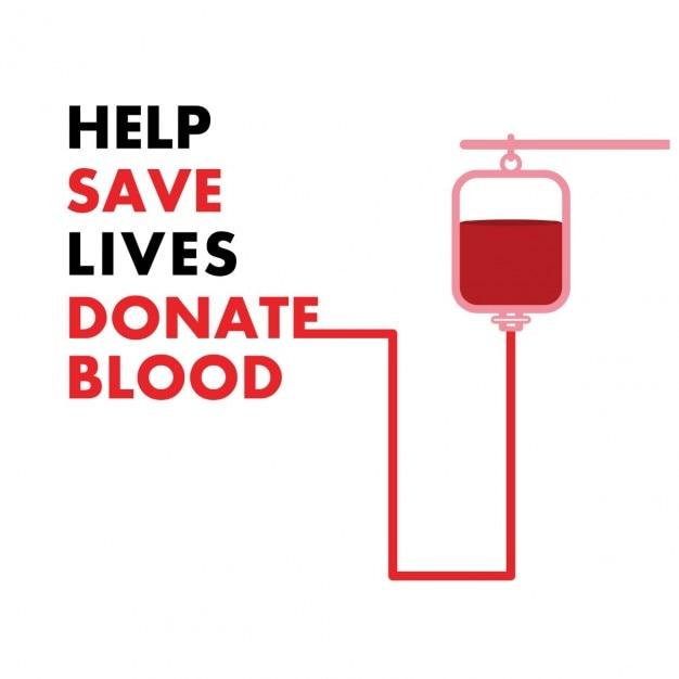 Don de sang Vecteur gratuit