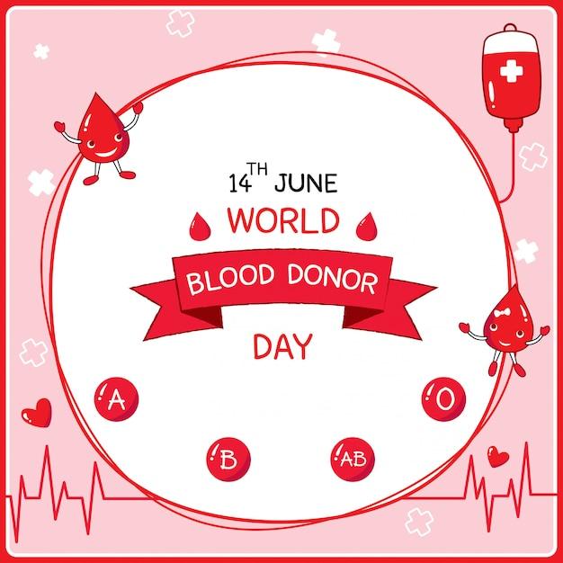Don de sang Vecteur Premium