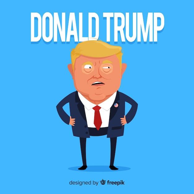 Donald Trump Personnage Avec Un Design Plat Vecteur gratuit