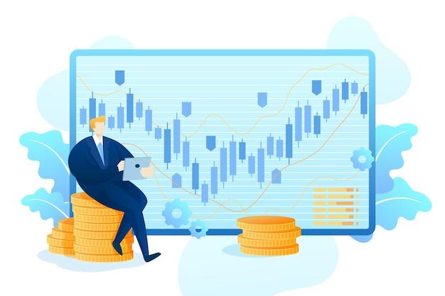 Données Boursières Vecteur gratuit
