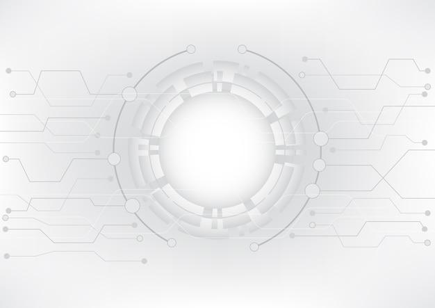 Données futuristes et gestion moderne de la technologie. Vecteur Premium