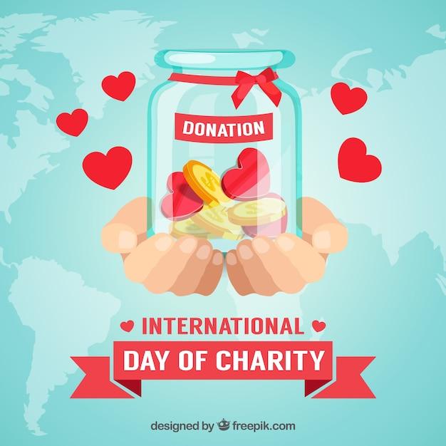 Dons internationaux le jour de la charité Vecteur gratuit