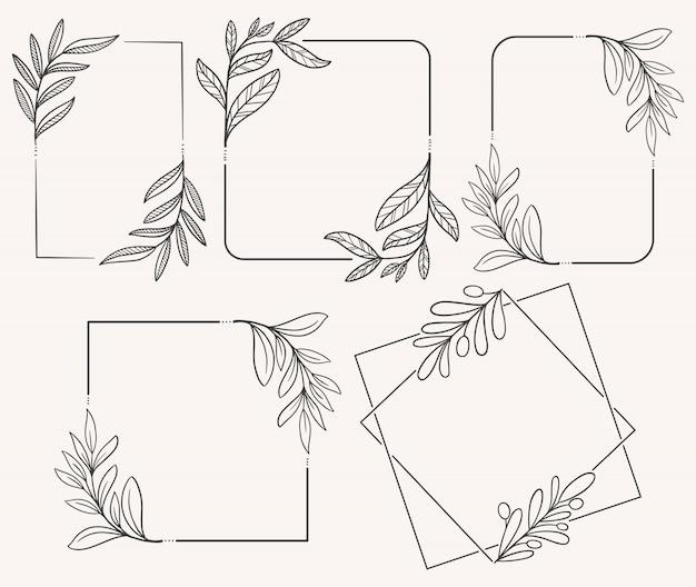 Doodle fleur dessiné à la main Vecteur Premium