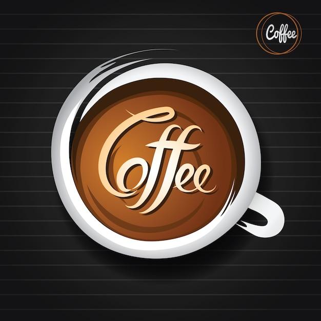 Doodle tasse à café Vecteur Premium