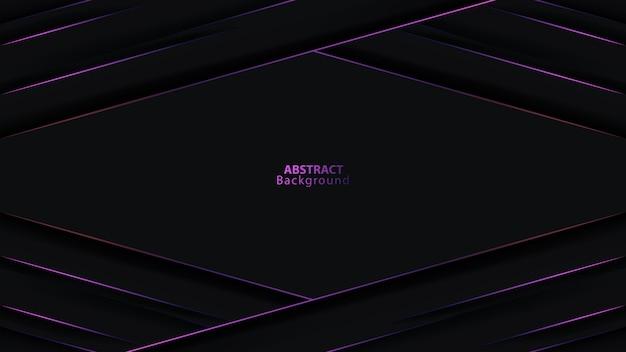 Double Cercle De Direction De Flèche Métallique Gris Foncé Violet Maille Fond Futuriste Vecteur Premium