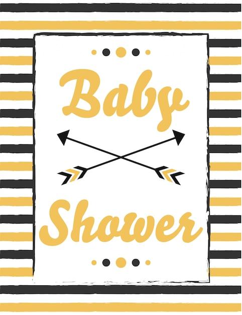 Douche de bébé Vecteur Premium