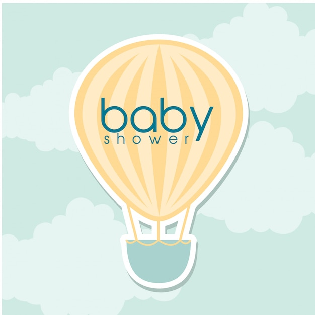 Douche de bébé Vecteur gratuit