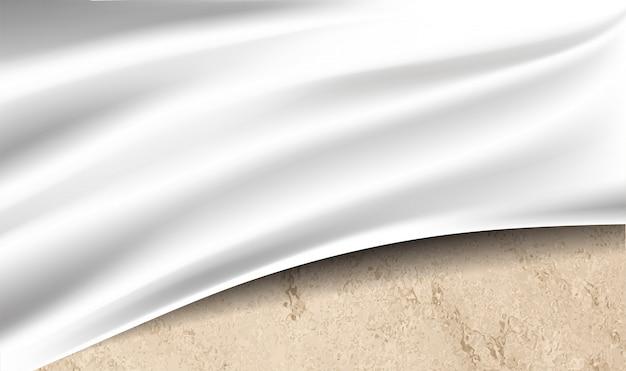 Drap blanc au-dessus de la texture du désert Vecteur Premium