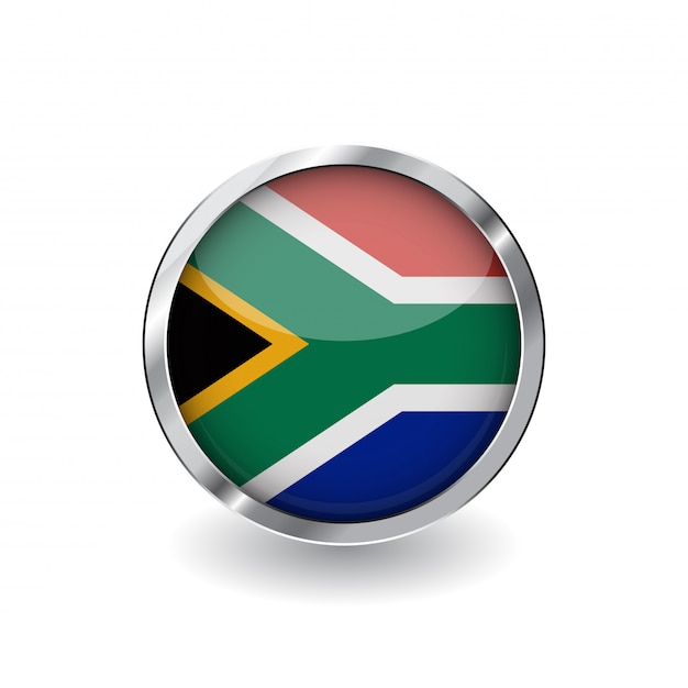 Drapeau, afrique sud Vecteur Premium